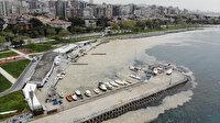 Caddebostan Sahili'nde çirkin manzara: Deniz salyası tedirginliği artarak devam ediyor