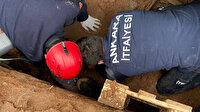 Apartman bahçesindeki kazı çalışmasında göçük: Bir işçi toprak altında kaldı
