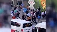'Bölgemizden müşteri alamazsın' tartışmasında taksiciyi yerlerde tekmelediler
