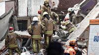 Zeytinburnu'nda çöken 5 katlı binanın etrafındaki 4 bina boşaltıldı