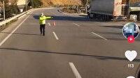 Sosyal medyada canlı yayın yaparken kendisini durduran polislere küfreden tır sürücüsüne hapis cezası