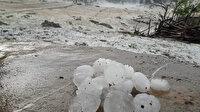 Adana'da ceviz büyüklüğünde dolu yağdı