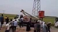 Şanlıurfa'da kaçak elektrik denetimine gelen ekiplere saldırı