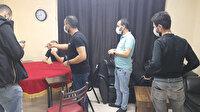 Bağcılar'da kumar baskını: Polisi görünce terasa kaçtılar