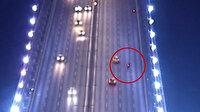 Fatih Sultan Mehmet Köprüsü'nde hayatını kaybeden motosikletinin kaza anı