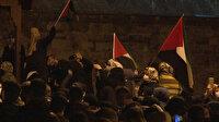 Türkiye'nin dört bir yanından 'Aksa' sesi  yükseldi: Fatih Camii'nde Kudüs'e destek mitingi düzenlendi