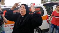 İşgalci İsrail'in saldırısında çocuğunu şehit veren annenin feryadı