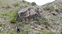 Köylülerin korkulu rüyasıydı: 350 tonluk kayaya çelik halatlı önlem