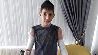 Kırılan cam kapı yüzünden vücudunda kesikler oluşan çocuğa 70 dikiş atıldı