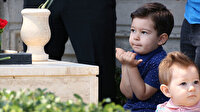 Şehit dayısı ile aynı ismi taşıyan Serkan minik ellerini semaya açtı