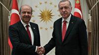 Cumhurbaşkanı Erdoğan KKTC Cumhurbaşkanı Ersin Tatar ile görüştü