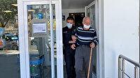 Düzce polisi torunlarına harçlık vermek isteyen yaşlı adamı önce bankaya ardından evine götürdü