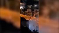 İşgalci İsrail polisi gece vakti evlere hedef gözeterek gaz bombası attı