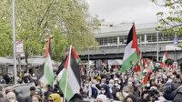 Berlin'de Filistin'e destek gösterisi düzenlendi