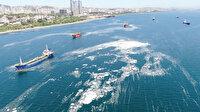 İstanbul sahillerini deniz salyaları istila etti