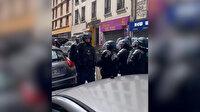 Fransa'da Filistin yürüyüşüne müdahaleyi görüntüleyen basın mensubuna coplu darp