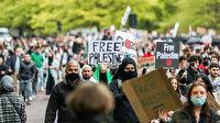 Avrupa Filistin için sokaklara döküldü
