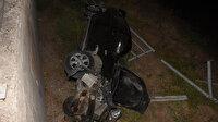 Otomobil metrelerce şarampole yuvarlandı: Kazada sıkışan arkadaşını bırakıp kaçtı