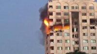 İşgalci İsrail, Gazze Şeridi'nde yer alan çok katlı Mushtaha Kulesi'ni vurdu