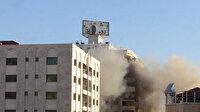 İşgalci İsrail, Gazze'de sivillerin ikamet ettiği 12 katlı binayı vurdu