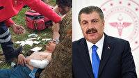 Erek Dağı'nda düşen çocuğun imdadına ambulans helikopter yetişmişti: Sevindiren haberi Bakan Koca paylaştı