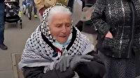 Fransız kadın işgalci İsrail'in zulmünü gözyaşı dökerek haykırdı