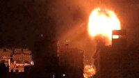 İşgalci İsrail gece yarısı Gazze'nin birçok noktasına bomba yağdırdı