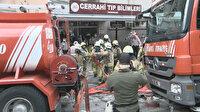 İstanbul Tıp Fakültesindeki bir binada yangın paniği