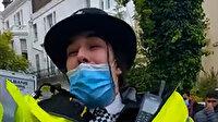 Londra'da 'Özgür Filistin' sloganı atan İngiliz polisine soruşturma