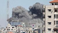 İsrail saldırılarını sürdürüyor: Gazze Şeridi'ndeki altı katlı bina yıkıldı