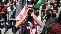 Filistin halkı İsrail zulmüne karşı sokağa döküldü