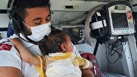 Üzerine sıcak su dökülen minik Beril sağlık görevlisine böyle sarıldı