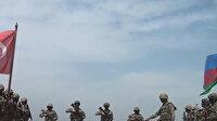 Azerbaycan ve Türk askerlerinden ortak tatbikat