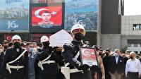 Şehit bekçi Kansu Turan için İstanbul İl Emniyet Müdürlüğünde tören