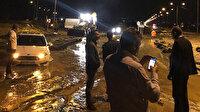 Meteorolojinin uyarısının ardından Iğdır'da korku dolu anlar: Dev kayalar karayolunu kapattı