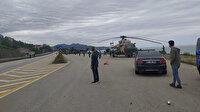 Giresun'a zorunlu inen Azerbaycan savaş helikopteri tamirin ardından havalandı