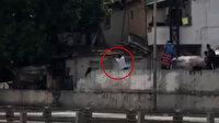 İstanbul'un göbeğinde pompalı tüfekli kavga kamerada