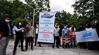 İsrail Büyükelçiliği önünde Mavi Marmara protestosu