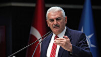 AK Parti Genel Başkanvekili Yıldırım Yeni Azerbaycan Partisi heyeti ile görüştü