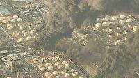 İran'daki Şehid Tondguyan Petrol Rafinerisinde büyük yangın