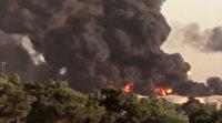 İran'da petrol rafinerisi alev alev yandı