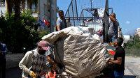 Konyaaltı'da çöpten atık toplayanlara operasyon