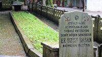 Bu mezar 7 metre: Sancağıyla beraber defnedildi