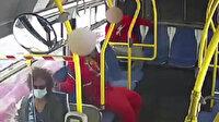 San Francisco'da otobüsteki gencin kadın yolcunun saçlarını yaktığı anlar kamerada