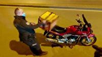 Motokuryenin sepetine zulalanmış uyuşturucuyu bekçiler buldu