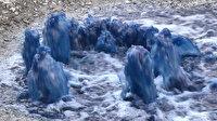 Esenyurt'ta yine mavi su kabusu: Rögarlardan fışkırdı