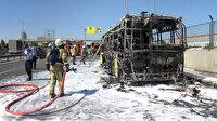 Bayrampaşa'da İETT otobüsü alev alev yandı
