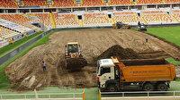 Yeni Malatya Stadyumu'nda zemin yenileniyor