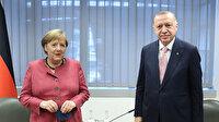 Cumhurbaşkanı Erdoğan'ın görüşme trafiği sürüyor: Merkel'le bir araya geldi
