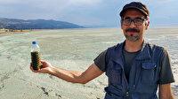 Burdur Gölü'nün alg patlamasıyla rengi değişti